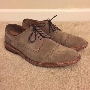 Joseph Abboud Baldwin Suede Cap Toe Oxford Shoes